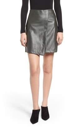 Bishop + Young BISHOP AND YOUNG A-Line Faux Leather Miniskirt