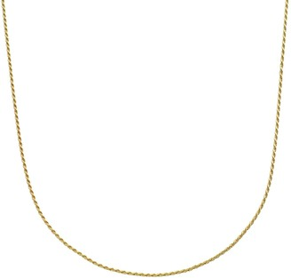 Primavera 24k Gold Over Silver Rope Chain Necklace