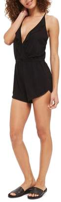 Topshop Jersey Wrap Cover-Up Romper