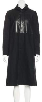 Rachel Comey Leather-Paneled Wool Coat