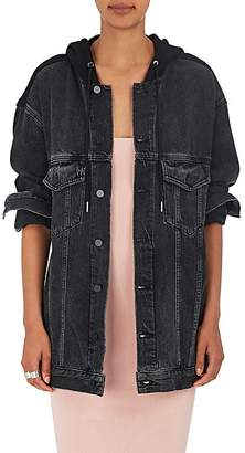Alexander Wang Denim x Women's Daze Hooded Denim Trucker Jacket