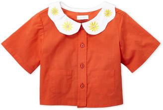 Margherita Missoni (Toddler Girls) Daisy Collar Button Front Top
