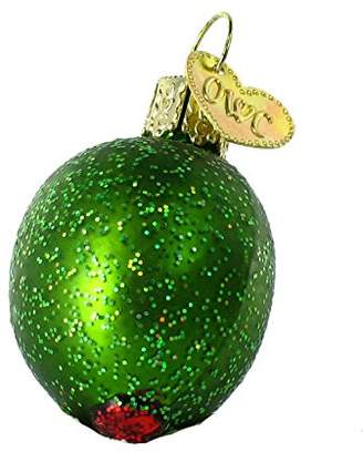 Old World Christmas Ornaments: Stuffed Green Olive Glass Blown Ornaments for Christmas Tree