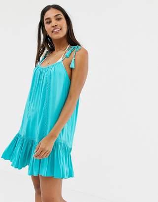 Accessorize Accesorize swing beach dress in aqua