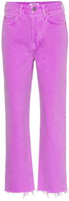 GRLFRND The Mica high-rise cropped jeans