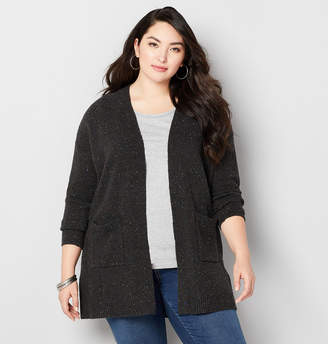 Avenue Speckled Cardigan with Pockets