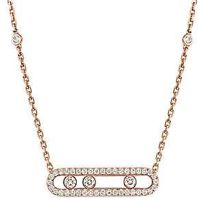 Messika Women's Move Classic 18K Rose Gold & Diamond Pavé Baby Move Necklace