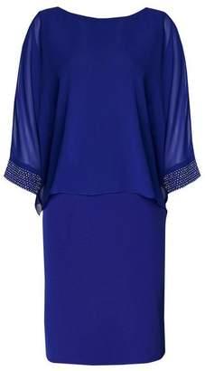 Wallis Cobalt Blue Embellished Cuff Overlay Dress