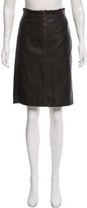 Plein Sud Jeans Faux Leather Pencil Skirt