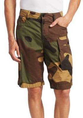 G Star Cotton Camo Shorts