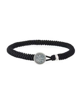 David Yurman Men's St. Christopher Button Woven Bracelet