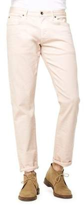 Todd Snyder 5-Pocket Garment-Dyed Stretch Twill in Pink