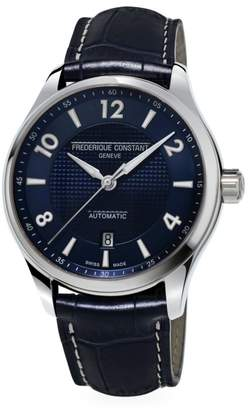 Runabout Automatic Stainless Steel & Leather Strap Watch