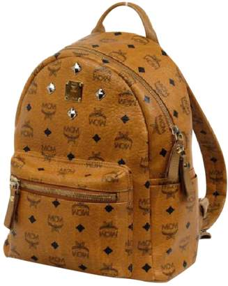 MCM Beige Leather Backpacks