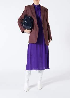 Tibi Viscose Georgette Midi Drawstring Dress
