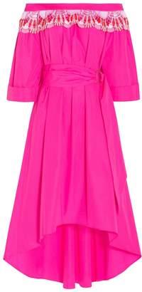 Peter Pilotto Lace Off-Shoulder Belted Dress