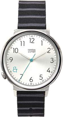 Canton and Hall Davis Slim Nylon Strap Watch, 44mm
