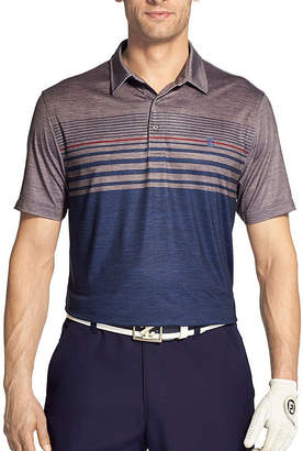 Izod Short Sleeve Stripe Knit Polo Shirt