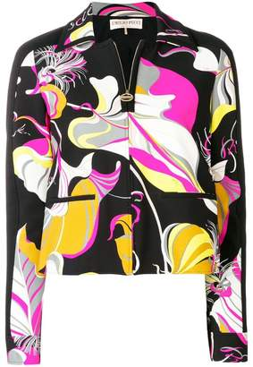 Emilio Pucci abstract print fitted jacket