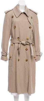 Michael Kors Virgin Wool Double-Breasted Trench Coat w/ Tags
