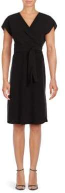 Lafayette 148 New York Sutton Surplice Silk Dress