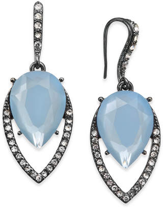 INC International Concepts I.N.C. Hematite-Tone Pavé & Blue Stone Drop Earrings, Created for Macy's