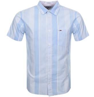 Tommy Jeans Short Sleeved Stripe Shirt Blue