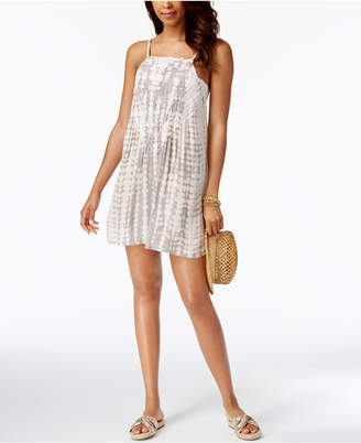 Raviya Tie-Dyed Crochet-Inset Cover-Up Women's Swimsuit $44 thestylecure.com
