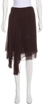 Gary Graham Silk Asymmetrical Skirt w/ Tags