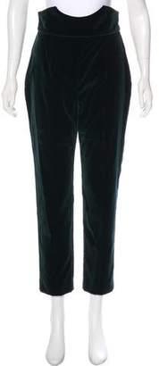 Alexander McQueen High-Rise Velvet Pants w/ Tags