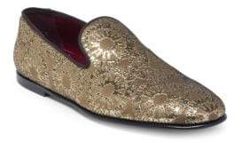 Dolce & Gabbana Metallic Pattern Slip-On Loafers