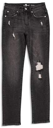 7 For All Mankind Boys' Distressed Paxton Stretch Jeans in Eclipse - Little Kid