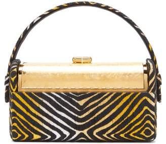 Bienen Davis Bienen-davis - Regine Metallic Brocade Minaudiere Clutch - Womens - Gold Multi
