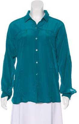Tommy Bahama Silk Button-Up Top