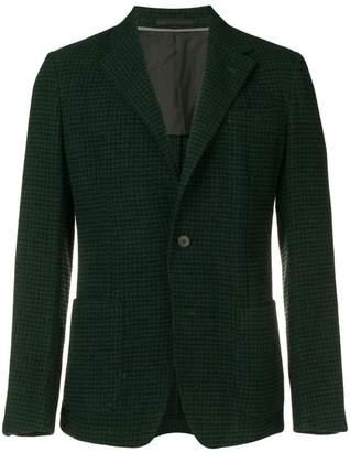 Ermenegildo Zegna micro-check blazer jacket