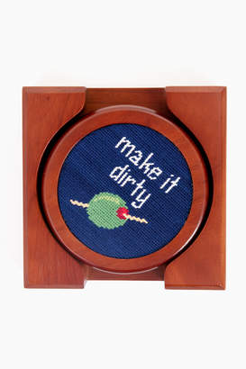 Smathers and Branson Cocktail Orders Needlepoint Coaster Set