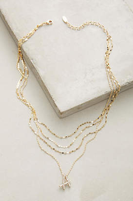 Anthropologie Initial Script Necklace $44 thestylecure.com