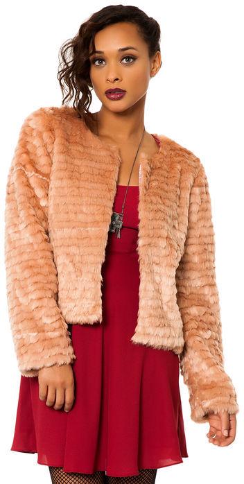 For Love & Lemons The Faux Fur Jacket