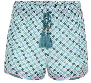 Talitha Shorts aus Seide und Baumwolle