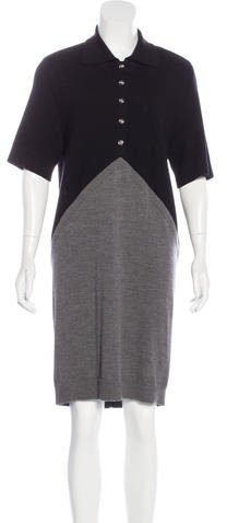 Balenciaga  Balenciaga Wool Shift Dress