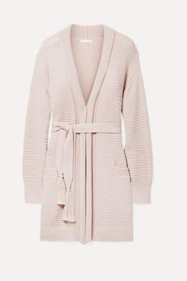 Skin - Fiona Pima Cotton-bouclé Robe - Pastel pink