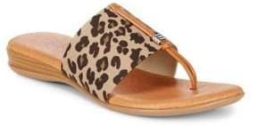 Andre Assous Leopard Thong Sandals
