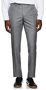 Barneys New York Men's Yellnik Wool Flannel Slim Trousers - Gray