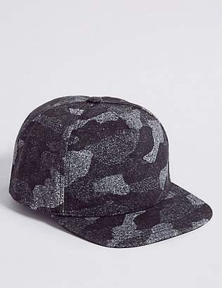 Marks and Spencer Kids' Pure Cotton Camouflage Baseball Cap (3 - 14 Years)