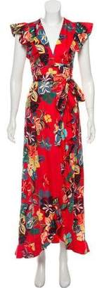 Alexis Floral Maxi Wrap Dress