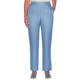 Alfred Dunner Silver Belles Woven Flat Front Pants