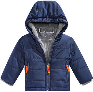 S. Rothschild Baby Boys Hooded Layered-Look Puffer Jacket