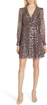 Kate Spade floral park clip dot dress