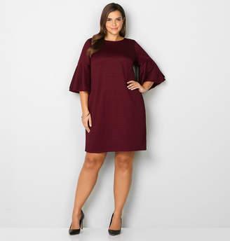 Avenue Chevron Bell Sleeve Dress