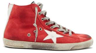 Golden Goose Francy High Top Suede Trainers - Womens - Red